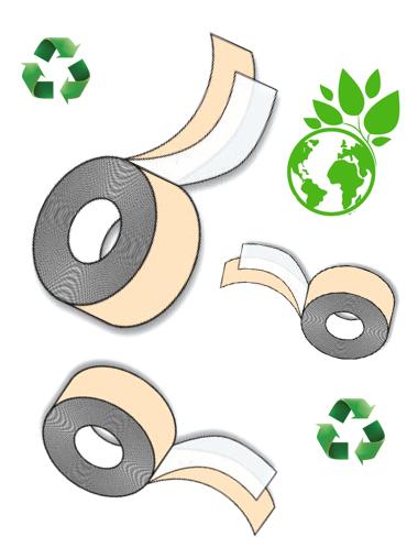 Grønt pakketape