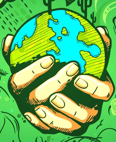 Pak miljøvenligt - hænder